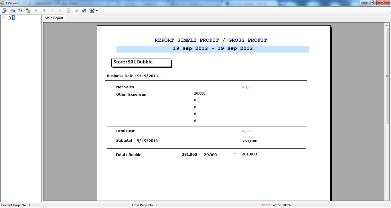 Report For Inventory Transaction